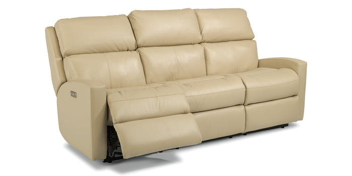 824-81 | Flexsteel Catalina Reclining Leather Sofa