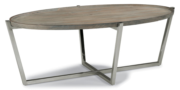 Gray | Flexsteel Platform Oval Coffee Table