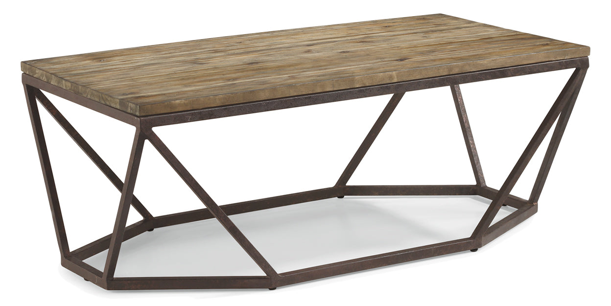 Light Acacia | Flexsteel Spectrum Rectangular Coffee Table
