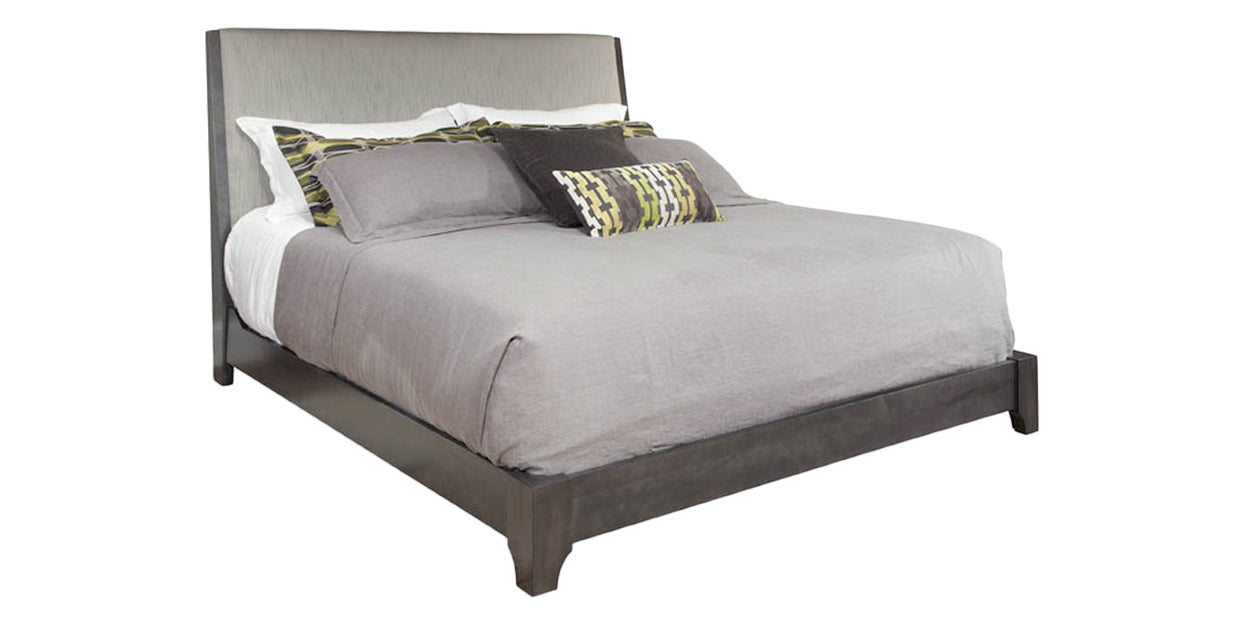 Smoke | Durham Front Street Upholstered Bed