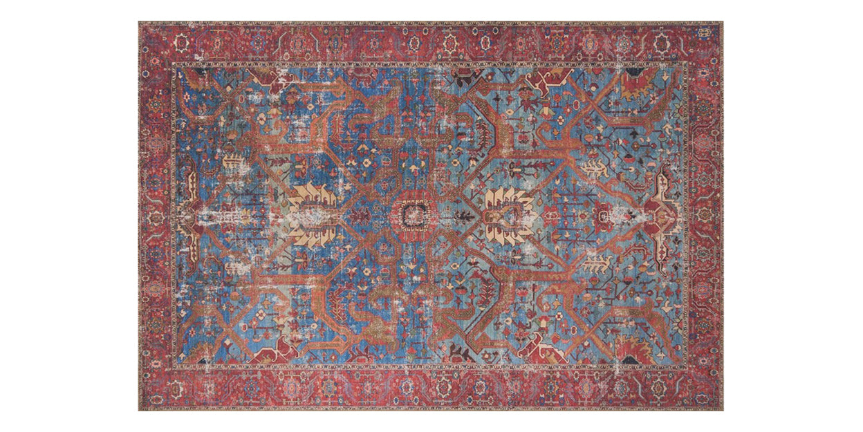Blue/Red | Loloi Loren Rug