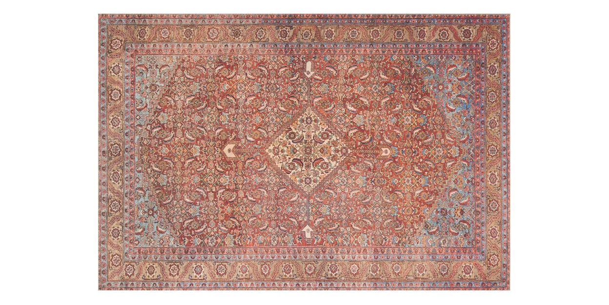 Red/Multi | Loloi Loren Rug