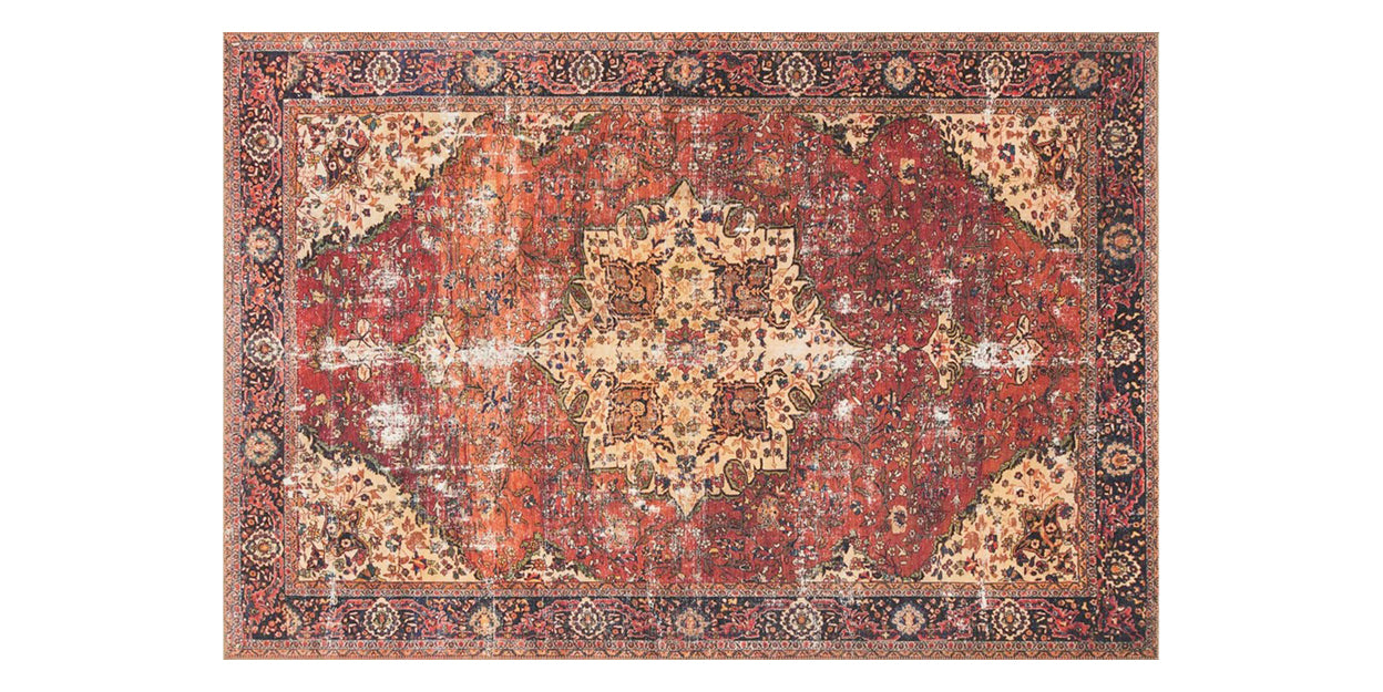 Red/Navy | Loloi Loren Rug