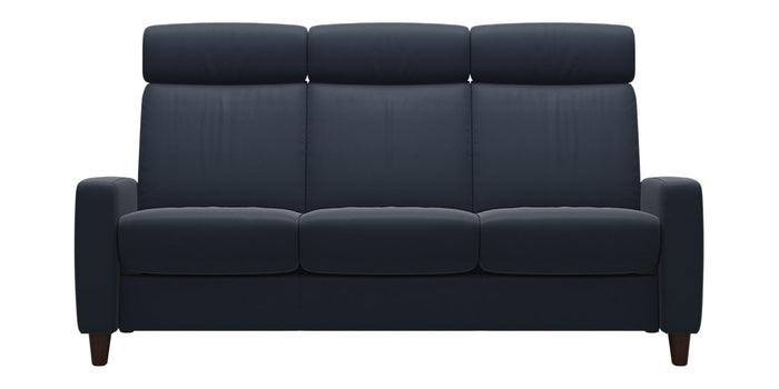 Paloma Leather Oxford Blue | Stressless Arion High Back Sofa | Valley Ridge Furniture