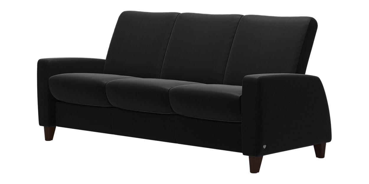 Paloma Leather Black | Stressless Arion Low Back Sofa | Valley Ridge Furniture