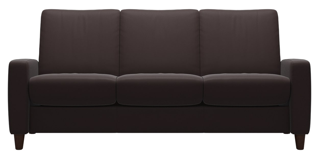 Paloma Leather Chocolate | Stressless Arion Low Back Sofa | Valley Ridge Furniture