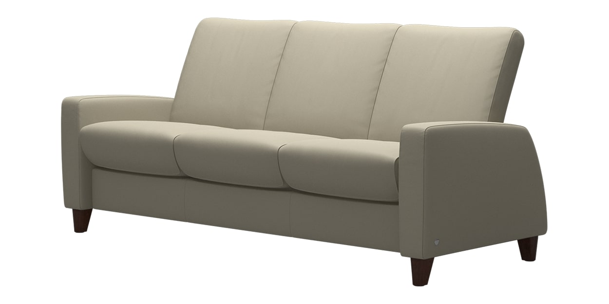 Paloma Leather Light Grey | Stressless Arion Low Back Sofa | Valley Ridge Furniture