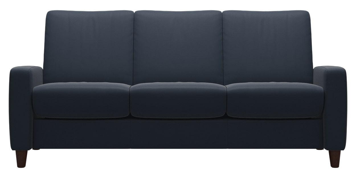 Paloma Leather Oxford Blue | Stressless Arion Low Back Sofa | Valley Ridge Furniture