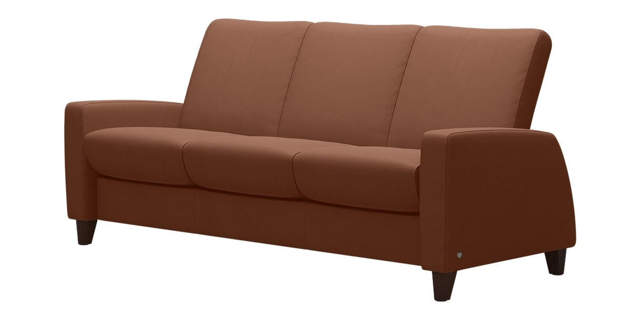 Paloma Leather New Cognac | Stressless Arion Low Back Sofa | Valley Ridge Furniture