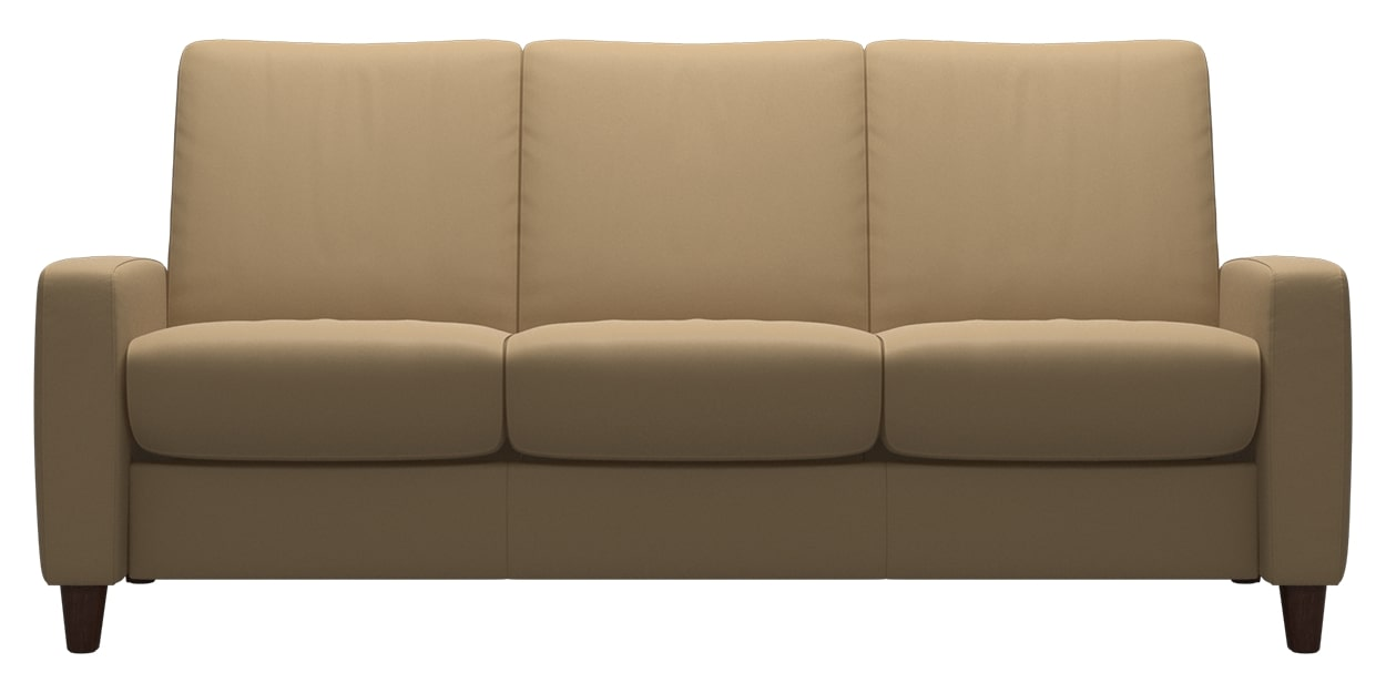 Paloma Leather Sand | Stressless Arion Low Back Sofa | Valley Ridge Furniture