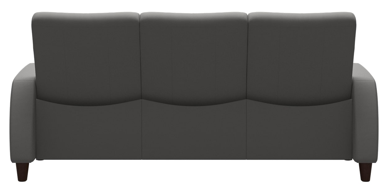 Paloma Leather Silver Grey | Stressless Arion Low Back Sofa | Valley Ridge Furniture