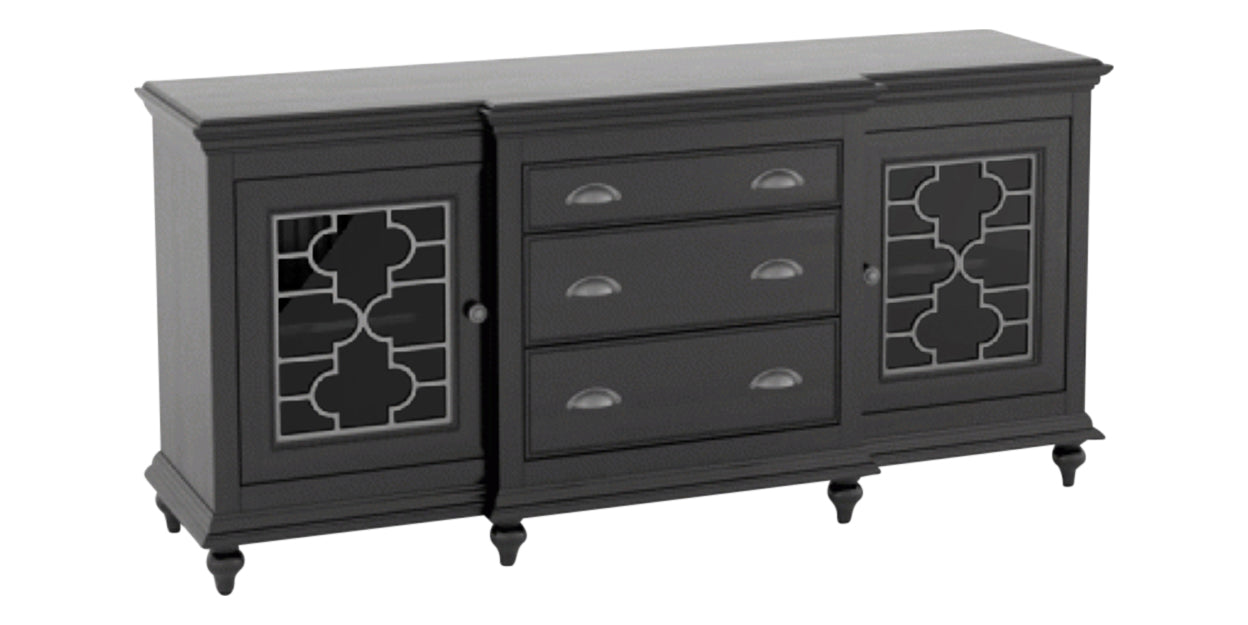 Midnight Black Washed | Canadel Farmhouse Buffet 6932