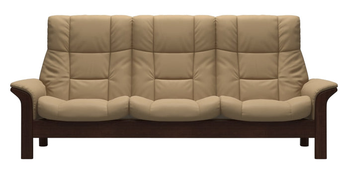 Paloma Leather Sand | Stressless Buckingham High Back Sofa | Valley Ridge Furniture