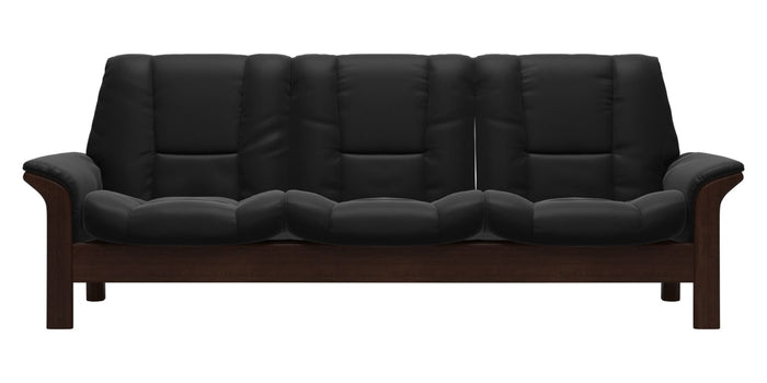 Paloma Leather Black | Stressless Buckingham Low Back Sofa | Valley Ridge Furniture