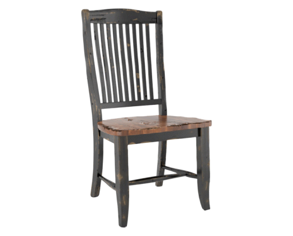 Black/Spice Washed | Canadel Champlain Dining Chair 0232