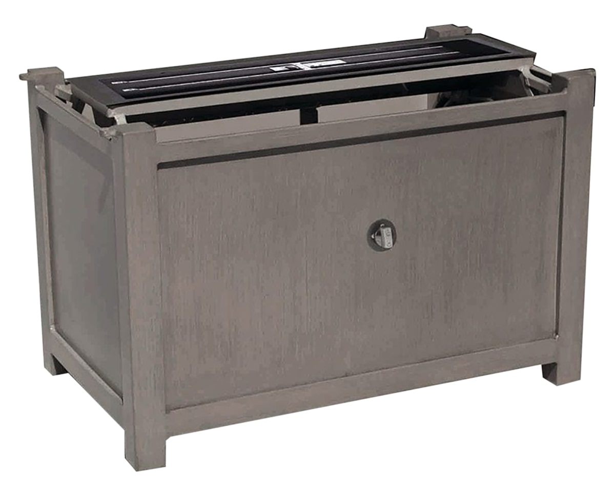 Elba Rectangular Fire Pit Base w/Burner for 50in x 29in Rectangular Top | Ratana Fire Pits Collection | Valley Ridge Furniture
