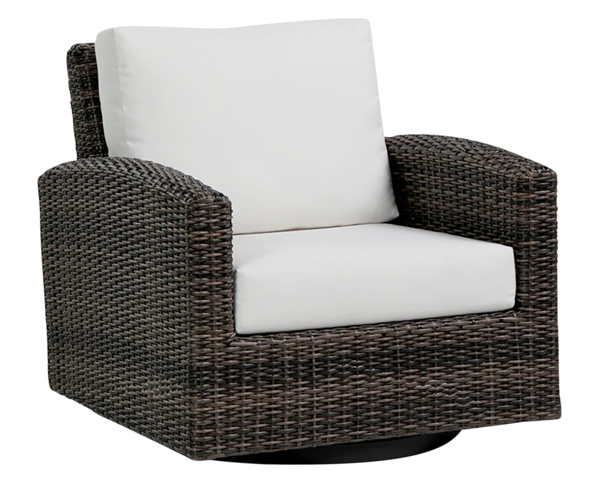 Swivel Gliding Club Chair | Ratana Coral Gables Collection | Valley Ridge Furniture