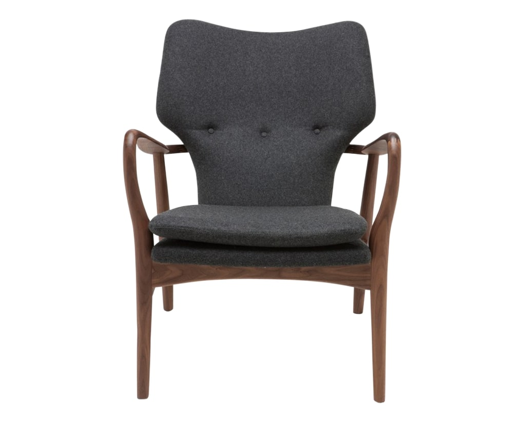 Nuevo Fabric Dark Grey Wool | Nuevo Living Patrik Chair | Valley Ridge Furniture