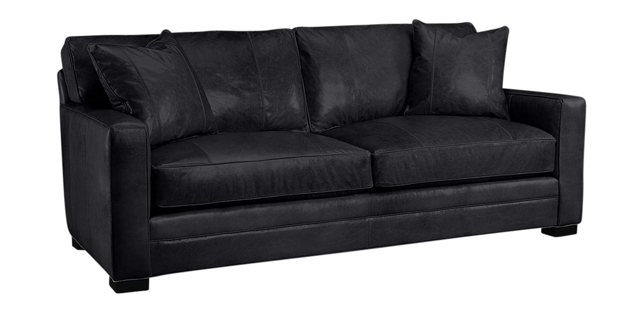 Harness Leather Black | Lee Industries 5285 Leather Sofa | Valley Ridge Furniture