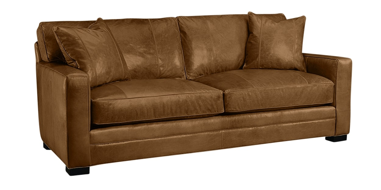 Harness Leather Nut | Lee Industries 5285 Leather Sofa | Valley Ridge Furniture