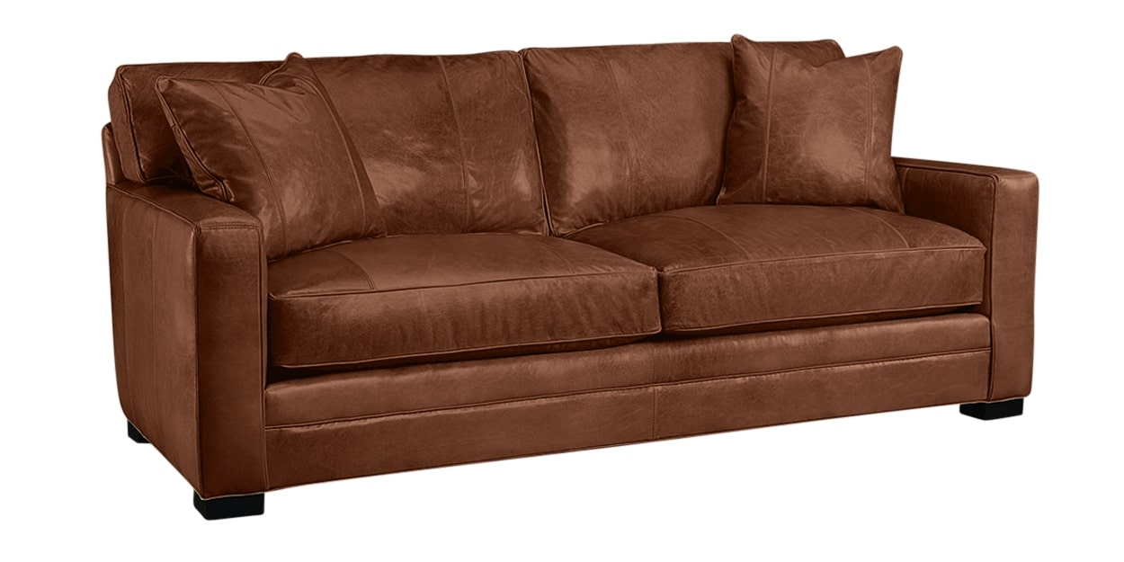 Harness Leather Whiskey | Lee Industries 5285 Leather Sofa | Valley Ridge Furniture