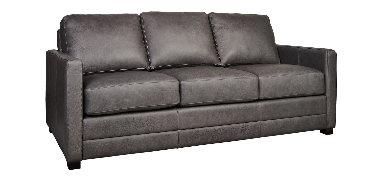 Charcoal Leather | Legacy Riley Sofa