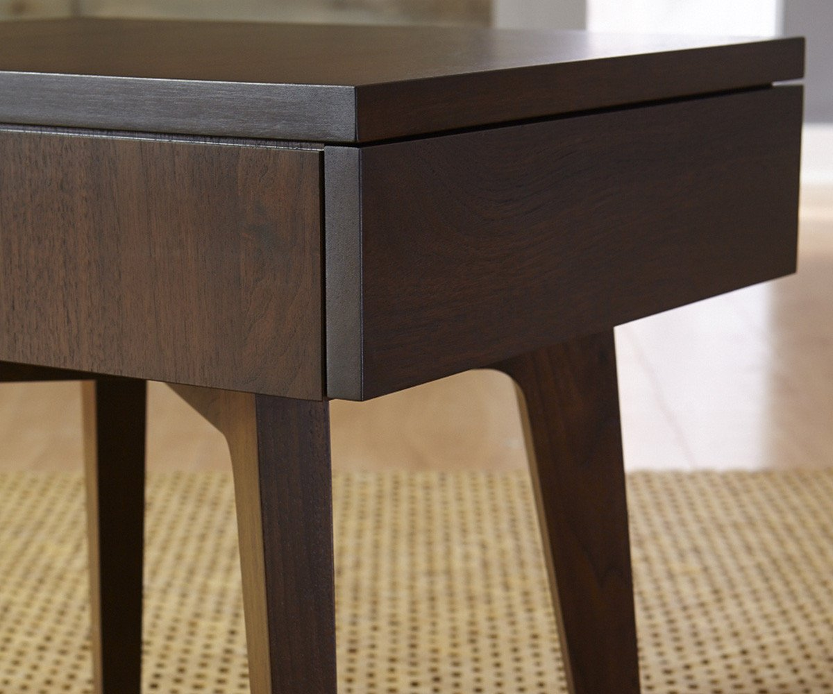 Walnut | West Bros Serra Drawer Table