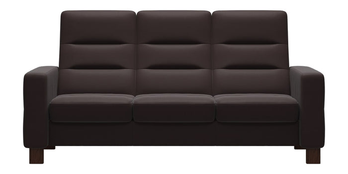 Paloma Leather Chocolate | Stressless Wave High Back Sofa | Valley Ridge Furniture