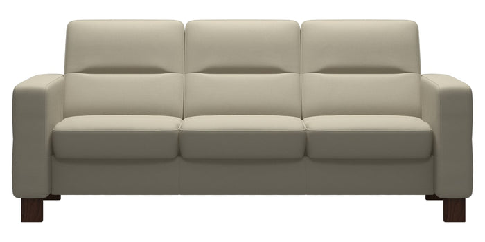 Paloma Leather Light Grey | Stressless Wave Low Back Sofa | Valley Ridge Furniture