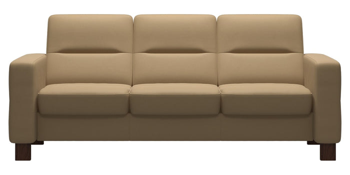 Paloma Leather Sand | Stressless Wave Low Back Sofa | Valley Ridge Furniture