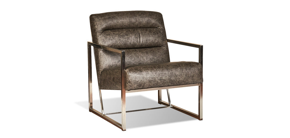 Grey Leather | Divani Horne Chair