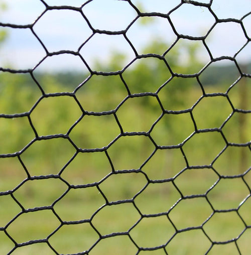 2' x 50' Steel Hex Web Blk PVC Coated Fence