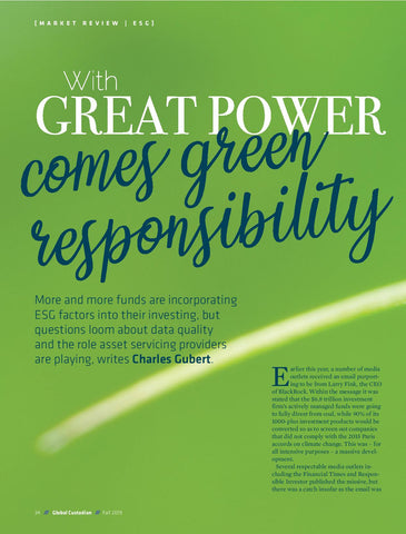 Green Responsibility: With great power comes green responsibility
