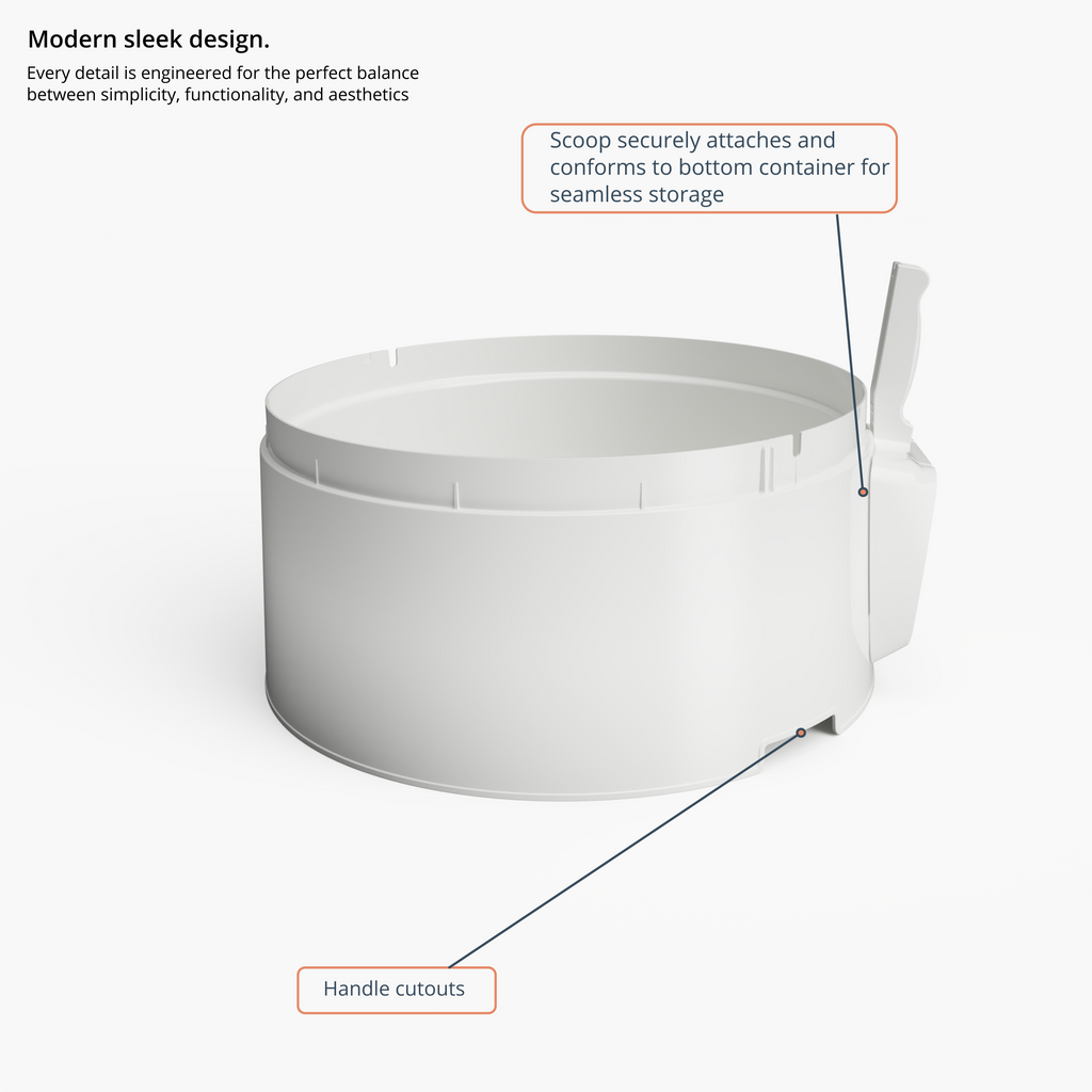 Modern sleek hidden litter box furniture with scoop mount to cat litter box similar to iris and modkat but easy scooping