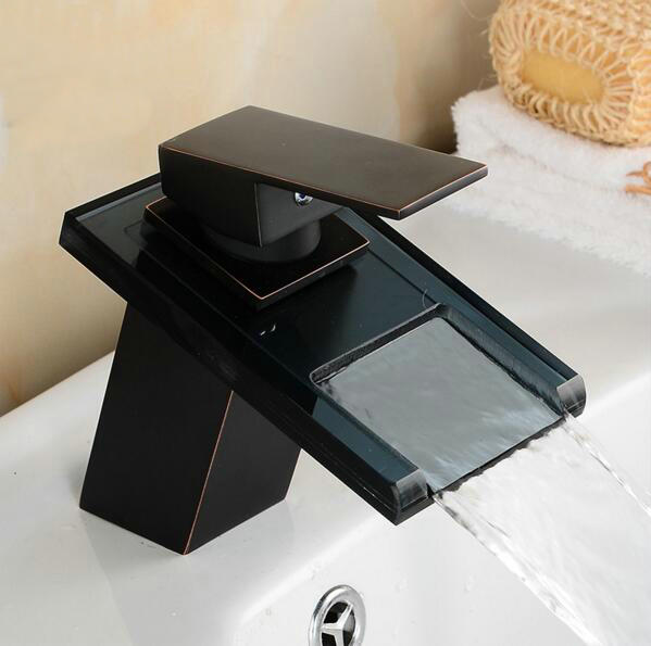 Waterfall Faucet Glass Spout Oil Rubbed Bronze