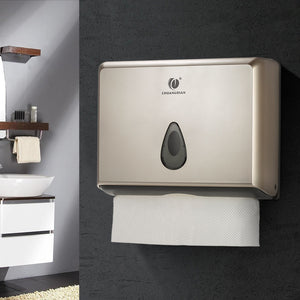 Wall Mounted Bathroom Multifold Paper Towel Dispenser Champagne Gold Silver White