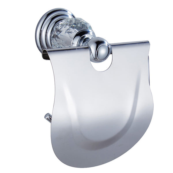 Luxury Crystal Silver Chrome Polished Brass Bath Hardware