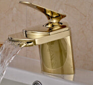 "Brass Waterfall Basin Faucet 8"" Cover Pate Brass"