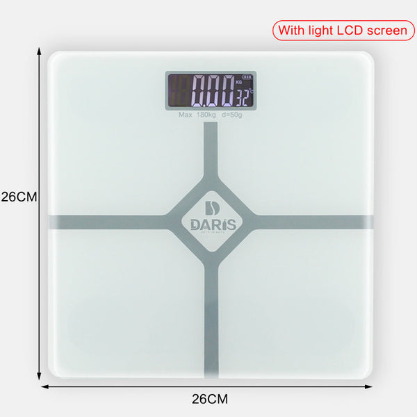 Smart Glass Digital LCD Body Scale