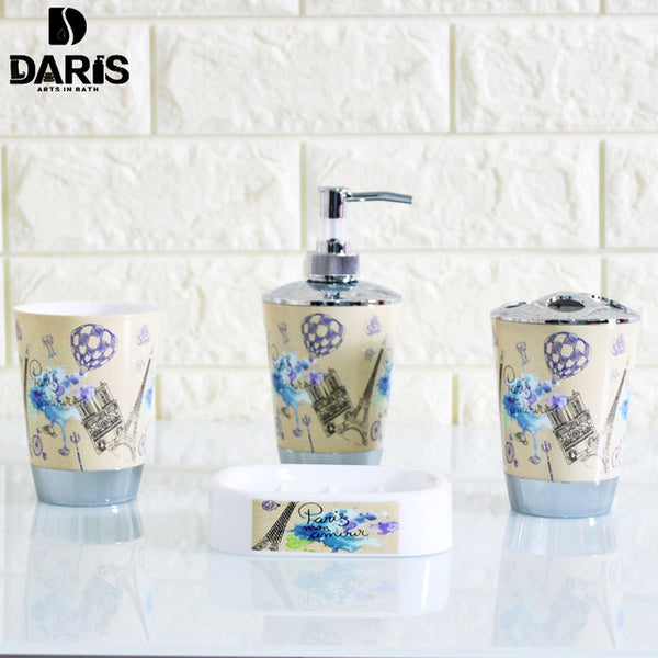 4 Piece Bathroom Set Audrey Hepburn Paris World