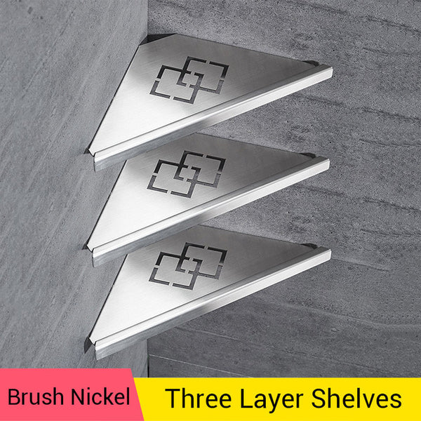 Bathroom Shower Shelves Brushed Nickel Stainless Steel