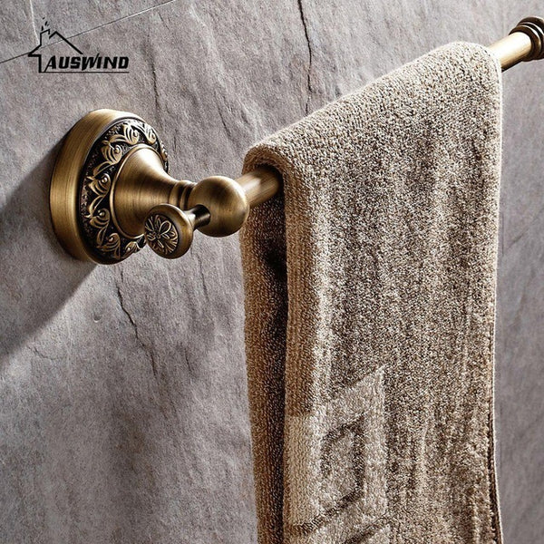 European Antique Bronze Brass Brushed Bathroom Hardware Sets