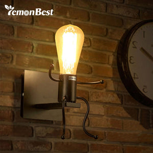 Creative Man Shape Wall Scone Lamp AC 85-240V (no bulb included)