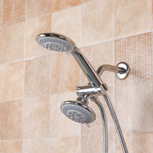 2 Mode Rainfall Shower Head / Handheld Combo Chrome