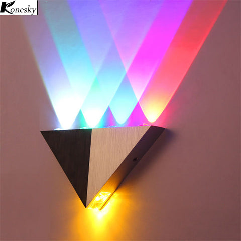 Aluminum Triangle LED Lamp Wall Sconce
