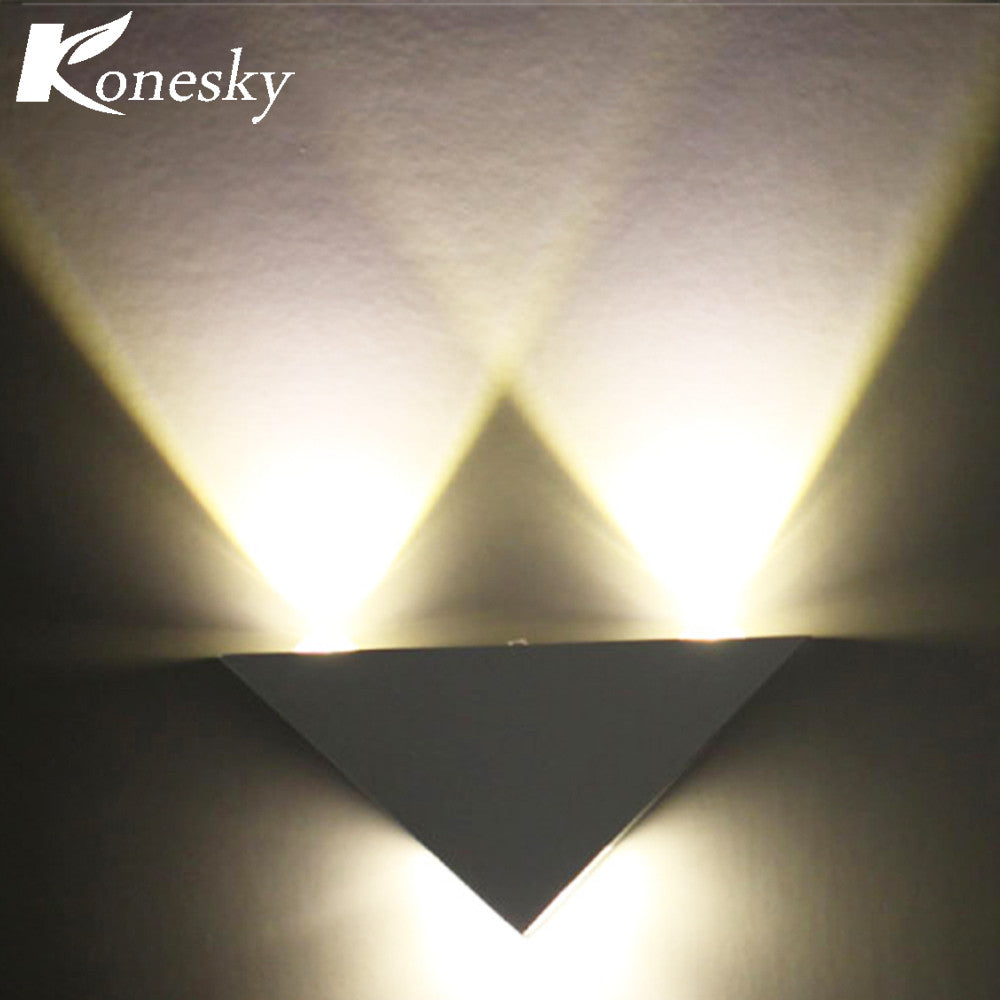 Aluminum Triangle Wall LED 3W Lamp Wall Sconce