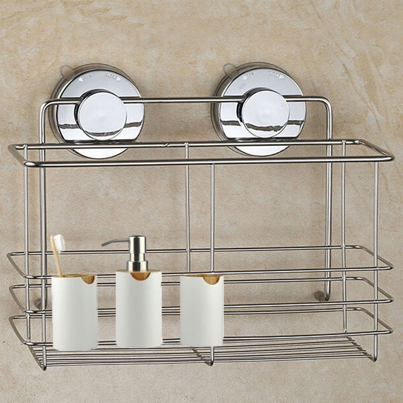 Non Rust Shower Shelf Suction Basket Caddy