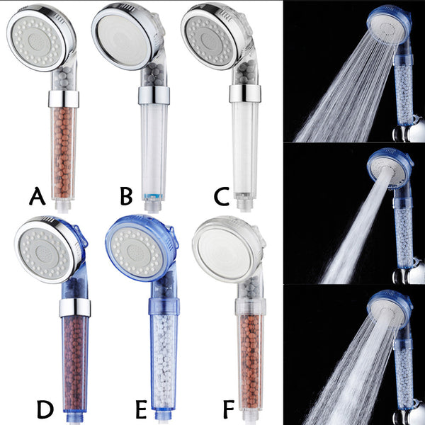 High Pressure Shower Head Water Saving 3 Filter Ionic Filtration