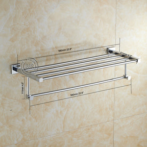Fashionable Towel Rack / Bar Chrome Bathroom Accessories