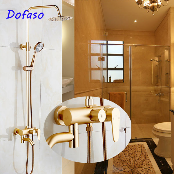 Classic Gold Or Rose Gold Rain Shower Set